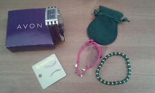 Avon Ladies Jewellery Watch Happy Bracelets Accessorize Earrings (Bundle) NEW
