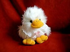 """EGGCETERA 1993 Shilla White Easter Duck Lace Collar & Pink Bow Toys """"R"""" Us"""