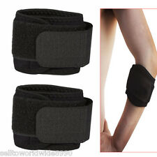 2 x Sports Elbow Brace Support Neoprene Band Strap Pad for Tennis Golf Fitness