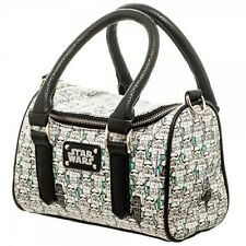 STAR WARS STORM TROOPER ALL OVER PRINT MINI SATCHEL BOWLER PURSE DOCTOR BAG WHT