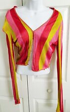 John Galliano Dior Striped Cardigan Sweater Sz M Italy