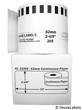 18 Rolls of DK-2205 Brother-Compatible (Continuous) Labels  [BPA FREE]