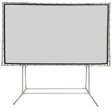 Carl's Blackout Cloth, 16:9, 9x16, FreeStanding Projector Screen Kit, White