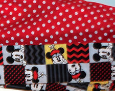Mickey Minnie Mouse Infinity Scarf Black Red White Polka Dots Chevron