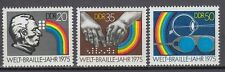 DDR East Germany 1975 ** Mi.2090/92 Braille-Blindenschrift Braille Alphabet