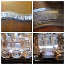 Swarovski Signed Complete 6 Piece Locomotive Train Set With Tracks Rare Set