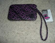 NWT Kenneth Cole Reaction Women's Tech Me Out Wristlet Wallet Black/Purple