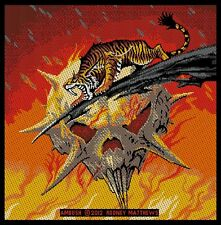 TYGERS OF PAN TANG 'AMBUSH'  woven patch. Album cover artwork by Rodney Matthews