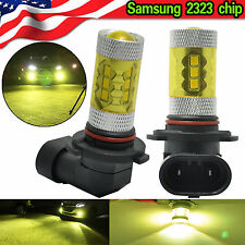 H10 9145 LED Fog Light 60W Samsung 2323 4300K Yellow Projector DRL Driving Bulb
