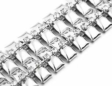 Silver Diamante/Diamond Ladies Waist Chain/Charm Belt - One Size Fits All - 479