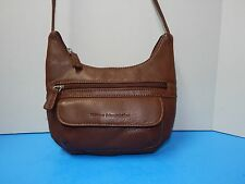 Vintage Stone Mountain Leather Cross-Body Handbag Purse Brown Color
