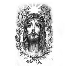 Jesus Christ Leaf Angel Arm Leg Body Art Waterproof Temporary Tattoo Sticker