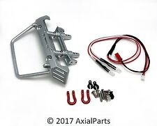 Axial SCX10 Metal Front HD Bumper w/ Chassis Mount LED Lights Wrangler Deadbolt