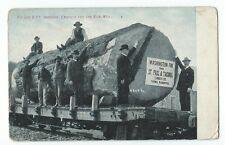 Vintage Postcard, Fir Log 9 ft, Through, Enroute for the saw mill, posted 1909