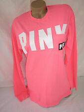 Victoria's Secret PiNK Campus T Shirt Coral Tee S NWT