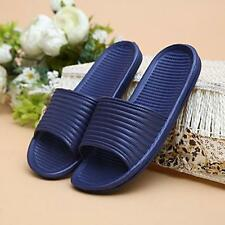 Man Stripe Flat Bath Slipper Summer Sandals Indoor Outdoor Home Beach Slipper C