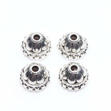 50Pcs Tibet Silver Plated Alloy Metal Spacer Bead Caps Jewelry Finding DIY 8x5mm