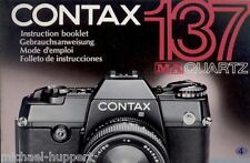 Contax 137 MA Quartz Bedienungsanleitung, manual instruction, Original, neu