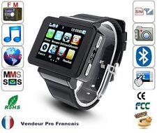 Montre Téléphone GSM Ecran Tactile Photo/Camera Lecteur MP3/MP4 K1 Noir