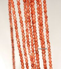 3MM SIRIUS GOLDEN SANDSTONE GEMSTONE GOLD FACETED ROUND 3MM LOOSE BEADS 16""
