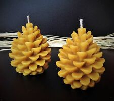 4 PCS NATURAL HANDMADE BEESWAX CANDLES