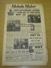 MELODY MAKER 1952 NOVEMBER 8 JIVER HUTCHINSON JIMMY YOUNG GENE KELLY +