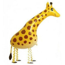 Huge Walking Pet Giraffe Mylar Balloon Zoo Jungle Party Decoration Supplies FT