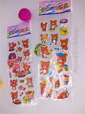 2pcs Rilakkuma Relax Bear San-X Cute Paper Crafts Stickers lot -kids favor gift