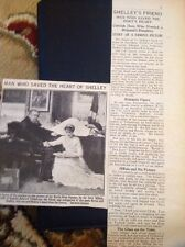 50-8 Ephemera Picture Article 1920 The Man Who Saved Shelley The Poet's Heart