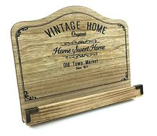 Distressed Wooden Vintage Recipe Cook Cookery Book Stand Holder