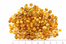 Genuine BALTIC amber loose beads holed, EGG YOLK, Rounded color 10 grams ~100pcs