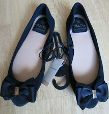 BRAND NEW LADIES LOVELY BLACK FLAT BALLERINA  PUMPS / SHOES & BOW SIZE 3 EURO 36