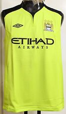 MANCHESTER CITY PLAYER ISSUE 2011/12 S/LESS TRAINING TOP BY UMBRO XXL BRAND NEW