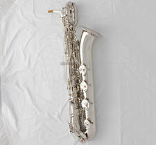 Taishan Prof. Silver nickel Eb Baritone Saxophone With German mouthpiece +2necks