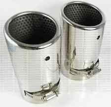 BMW Z4 E89 2009- EMBOUTS CHROME DOUBLE SORTIE POT ECHAPPEMENTS EXHAUST TIP 71mm