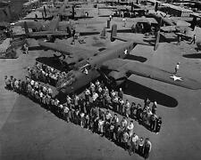 1945 North American B-25 Mitchell Bomber Assembly Line WWII Photo FL56