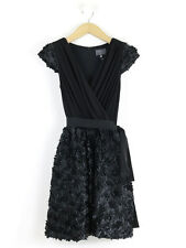 Coast Couture Womens Black Ruffled Skirt Cocktail Dress Size 10