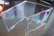 100 Double CD Jewel Case 10.4mm Standard for 2 CDs with Clear FOLD-OUT Tray AAA
