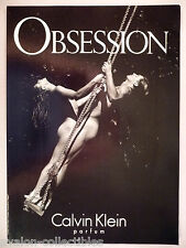 Obsession Perfume by Calvin Klein PRINT AD - 1993 ~~ naked on swing