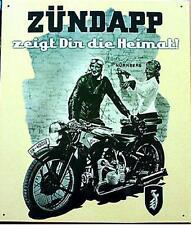 Älteres Blechschild  Oldtimer Motorrad Zündapp gebraucht used  noch 3 x da