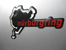 1 Nurburgring Domed Sticker Chrome & red on Black v002