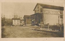 P.J. Blough General Store and Dirt Street in Hooversville PA RP Postcard 1912