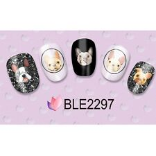 Nail Art Water Transfer French Bull Dog Frenchie Decal  BLE2297 #182