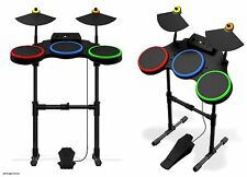 Sony PS3 Guitar Hero World Tour Band DRUM KIT SET drums cymbals pedal stand ps2