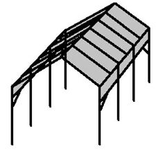 ☀☀►Make-Your-Own 21' to 30' RV Portable Carport Shelter kit - Frame only