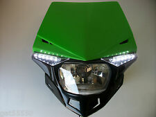 UFO GREEN ROAD LEGAL HEADLIGHT ENDURO STREETFIGHTER KAWASAKI KDX KMX KLX KDX ZXR