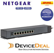 NETGEAR GSS108E ProSAFE 8 Port 10/100/1000 Base-T RJ45 Gigabit Desktop Switch