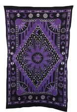 PURPLE BURNING SUN TAPESTRY 57 X 86 INCHES APPROXIMATE NWT
