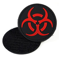 Biohazard Red PVC Morale Patch 3D Tactical Airsoft Badge Hook and Loop #16