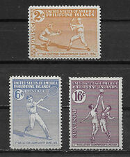 PHILIPPINES ,USA,1934, FAR EASTERN CHAMPIONSHIP , SPORTS , SET OF 3 STAMPS , VLH